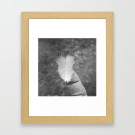 Light like a feather Framed Art Print