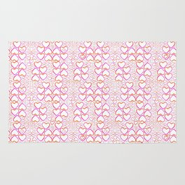 Little Pink Hearts Rug