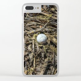 I Am a Rock, I Am an Island Clear iPhone Case
