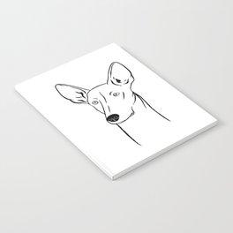 Ibizan Hound (Black and White) Notebook