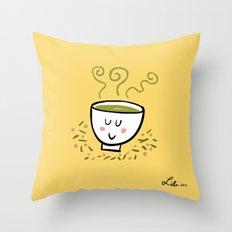 Genmaicha Tea Throw Pillow