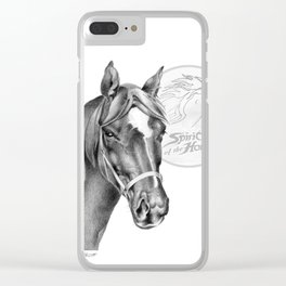 Barney the Hunter: Spirit of the Horse Clear iPhone Case