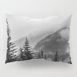 Winter forest trees #10 - Black and white Pillow Sham