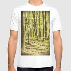 Follow the Right Path MEDIUM Mens Fitted Tee White
