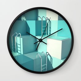 I'd climb the highest tile and swim the deepest pool Wall Clock
