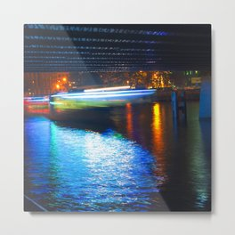 Floating Aqua Lighting Metal Print