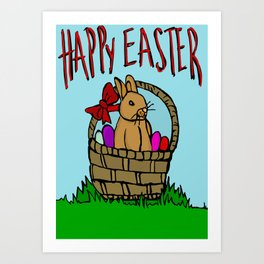 Happy Easter bunny Art Print