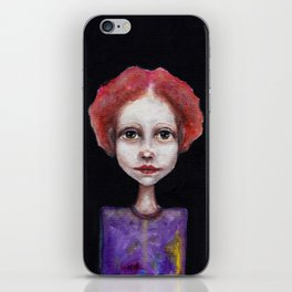 red hair iPhone Skin
