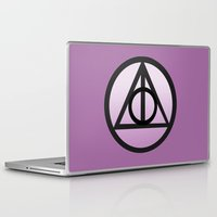 deathly hallows Laptop & iPad Skins featuring Deathly Hallows by AriesNamarie