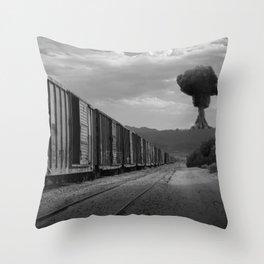 Nuke Train Throw Pillow