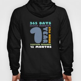 1 Year Birthday Gift Girl Boy Party Hoody