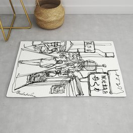Walk Through (Japan), A Continuous Line Drawing Rug