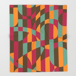 Abstract Graphic Art - Roller Coaster Throw Blanket
