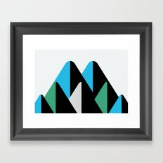 Graphic Mountains Framed Art Print