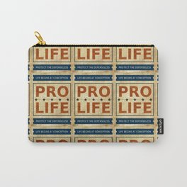 Pro Life Billboard Carry-All Pouch