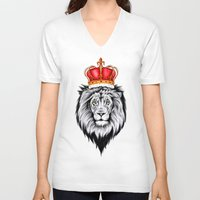the lion king V-neck T-shirts featuring Lion King by Libby Watkins Illustration