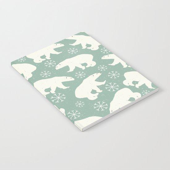 Merry Christmas - Polar bear - Animal pattern Notebook