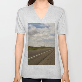 Empty Highway Unisex V-Neck