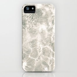 Clear water | beach fine art photography | sea wave and sand iPhone Case