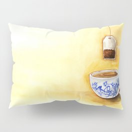 A cup of tea watercolor illustration Pillow Sham