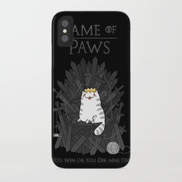 Game of Paws iPhone Case