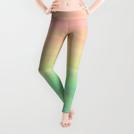 Abstract Pastel Rainbow II Colored gradient stripes Leggings