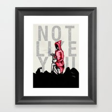 Do Not Conform Framed Art Print