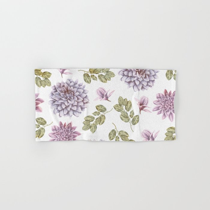 Lavender Rose Garden Floral Pattern Hand Bath Towel By Naturemagick Society6