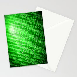 Green Pixels Stationery Cards