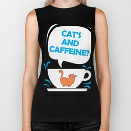 Cat's and Caffeine Biker Tank