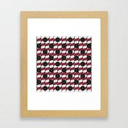 Buttons Pattern Framed Art Print