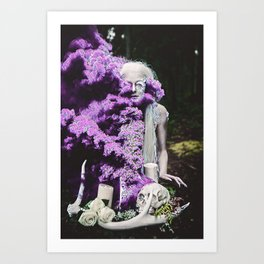 Vampire Flower (Edit 3) Art Print