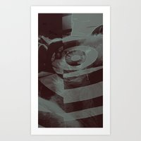 Past out in Abstract Art Print