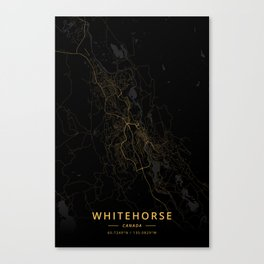 Whitehorse, Canada - Gold Canvas Print
