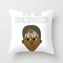 Biggest and Shiniest Forehead Tshirt design Unlimited memory Throw Pillow