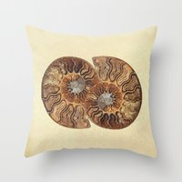 minerals Throw Pillows featuring HISTORY IN MY HAND by Catspaws