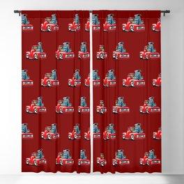 American Classic Hotrod Pickup Truck Cartoon Blackout Curtain