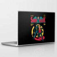 comic Laptop & iPad Skins featuring Sherlock Comic by harebrained