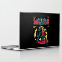 tintin Laptop & iPad Skins featuring Sherlock Comic by harebrained