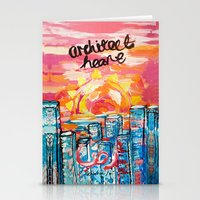 architect Stationery Cards featuring Architect Heart by Anwar B