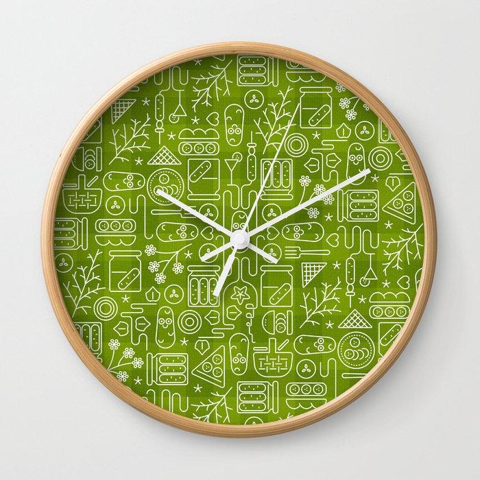 Pickles Picnic Wall Clock