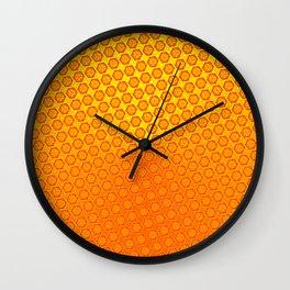 d20 Fire Red Critical Hit Pattern Wall Clock