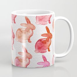 Watercolor Bunnies 1F by Kathy Morton Stanion Coffee Mug