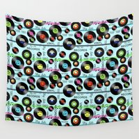 vinyl Wall Tapestries featuring Vinyl Love by naturessol