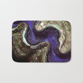 Blue Clam with Nudibranch Bath Mat