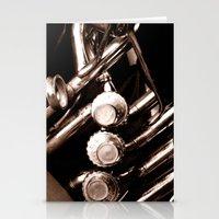 jazz Stationery Cards featuring Jazz by KunstFabrik_StaticMovement Manu Jobst