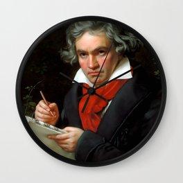 Ludwig van Beethoven (1770-1827) by Joseph Karl Stieler, 1820 Wall Clock