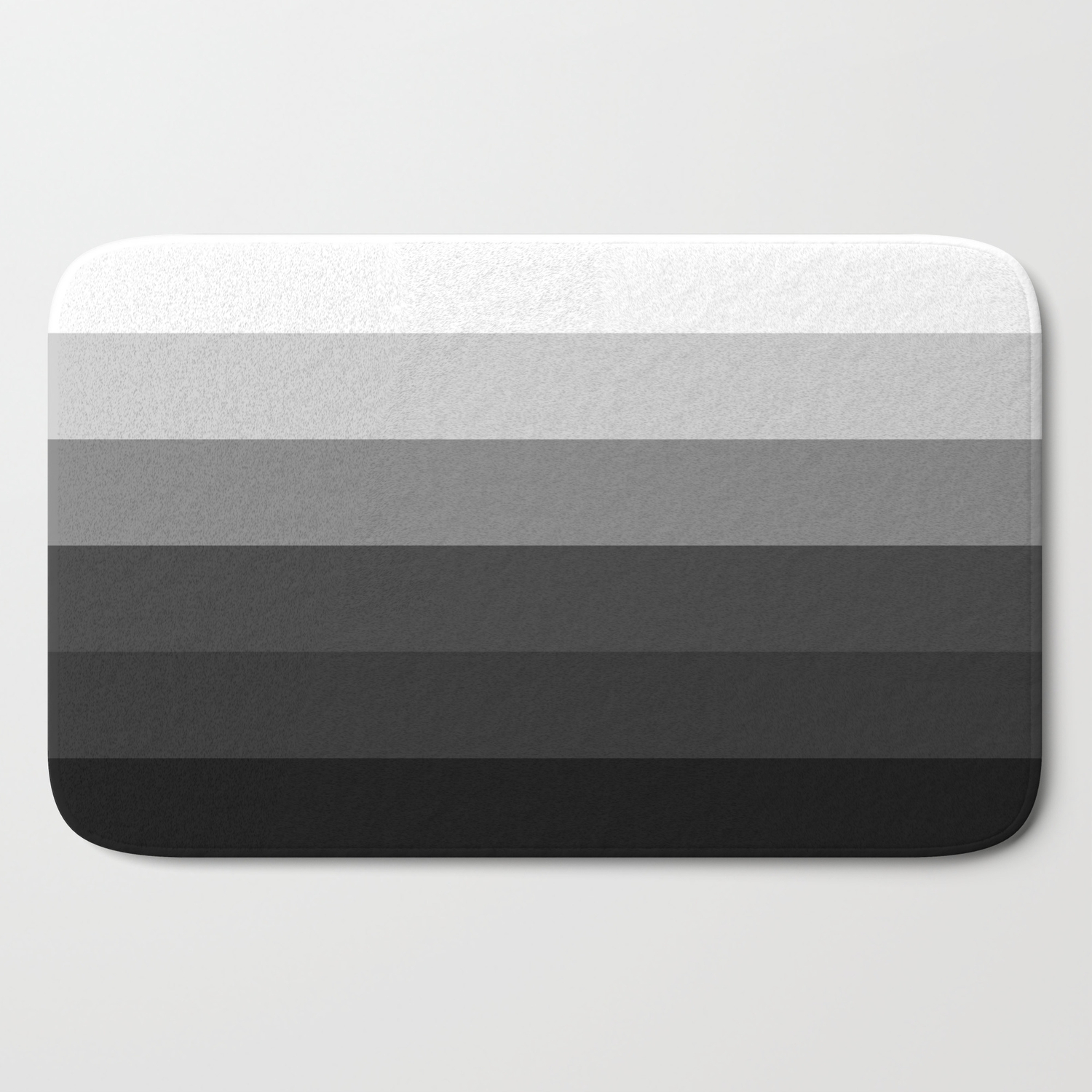 Picture of: Black White Gray Ombre Stripes Bath Mat By Vintageappeal623 Society6
