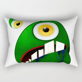 Green big eye monster Rectangular Pillow