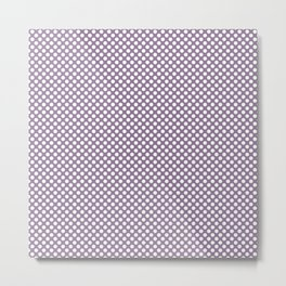Orchid Mist and White Polka Dots Metal Print